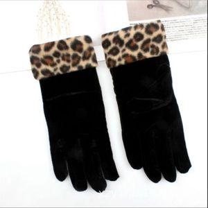 Cute Leopard Print Gloves